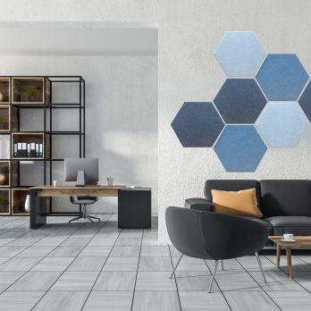 Hexagon Tygklädd